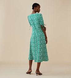 Claire Midi Green Ditsy Dress