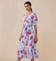 Tove Midi Blue Floral Dress