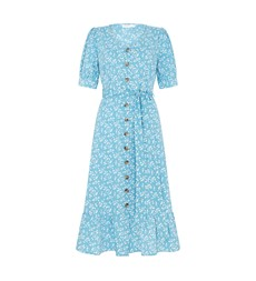 Tove Midi Blue Ditsy Dress