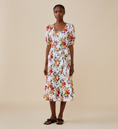 Tove Midi White Floral Dress