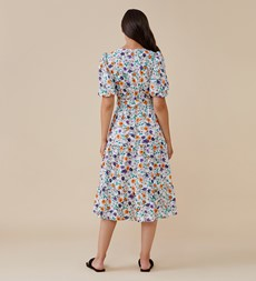 Aila White Floral Dress
