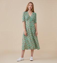 Camilla Midi Green Ditsy Dress