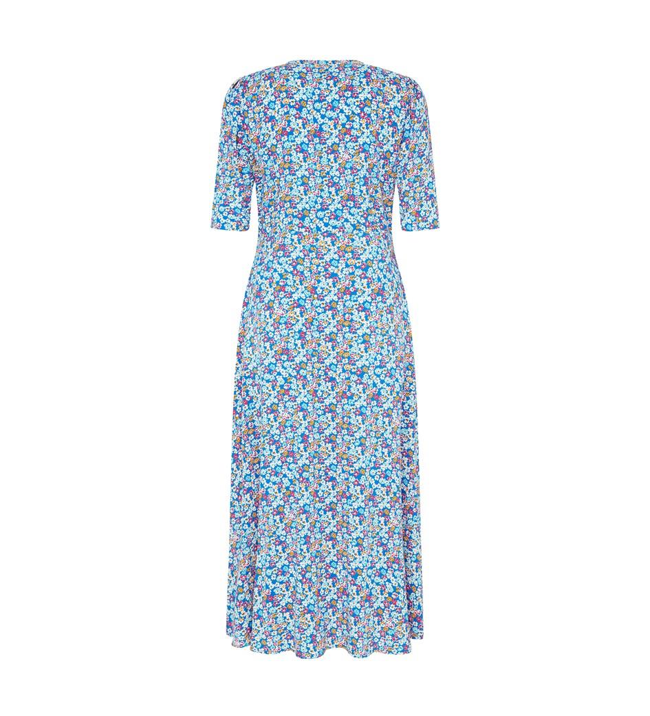 Camilla Midi Blue Ditsy Dress