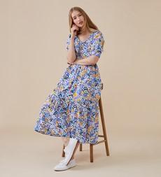 Addison Midi Multi Floral Dress