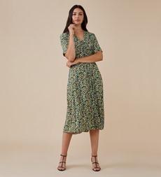 Skyla Midi Green Ditsy Dress