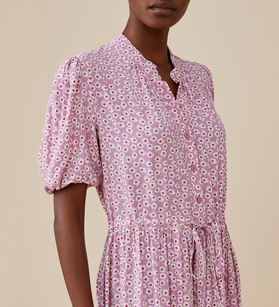 Madelyn Midi Pink Daisy Dress