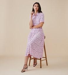 Tania Midi Pink Ditsy Dress