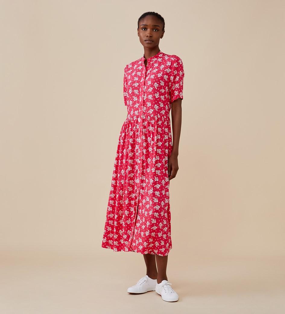 Meave Midi Pink Floral Dress
