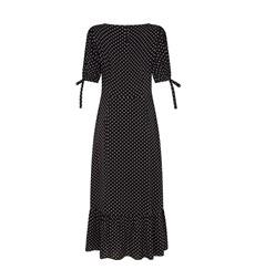 Ruby Midi Black Spot Dress
