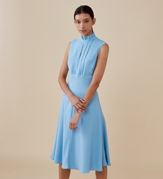 Teagan Midi Blue Dress