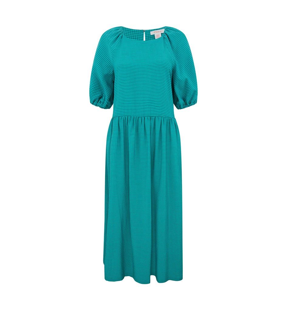 Aurora Green Check Dress