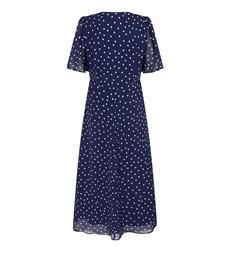 Carolina Navy Spot Dress