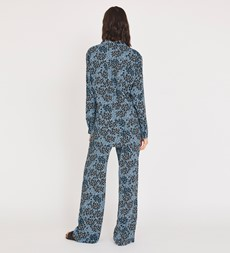 Fleur Collared Blue Animal Shirt