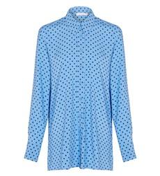 Fleur Collared Blue Spot Shirt