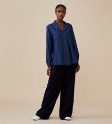 Lizabeth Denim Blue Shirt