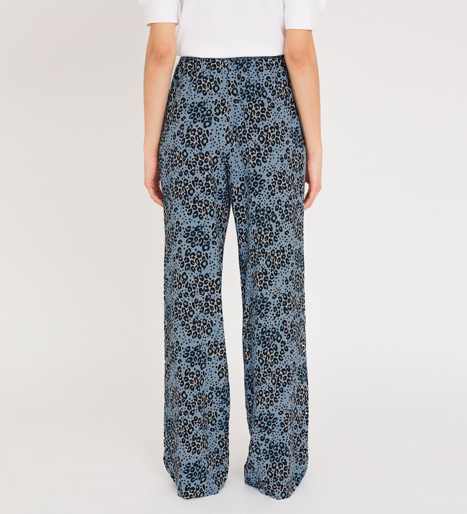 Natalya Blue Animal Trouser