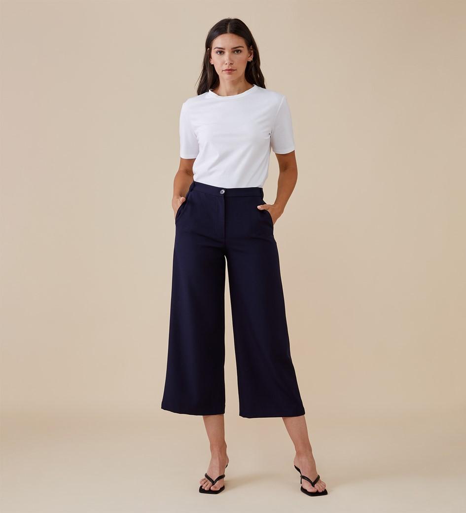 Sunny Navy Trouser