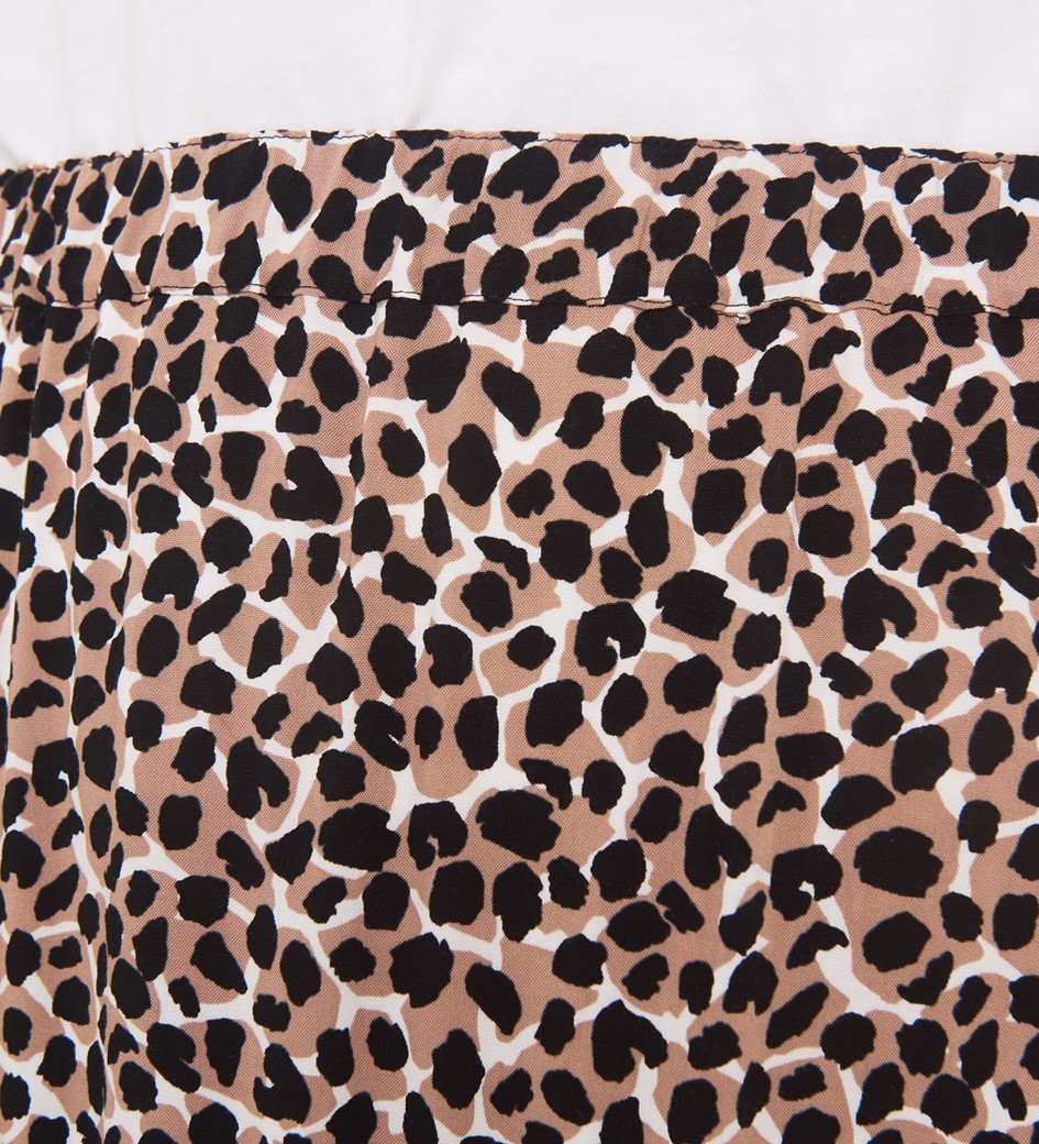 Simone Beige Animal Skirt