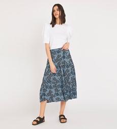 Simone Blue Animal Skirt