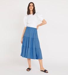 Simone Blue Spot Skirt
