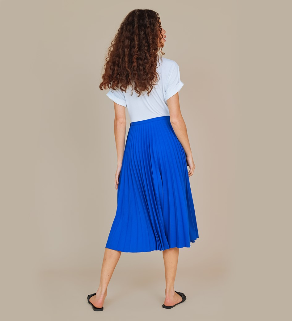 Lottie Blue Midi Skirt