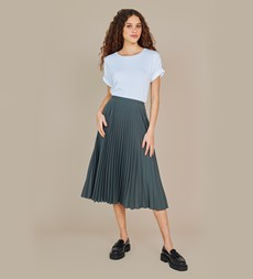 Lottie Grey Midi Skirt