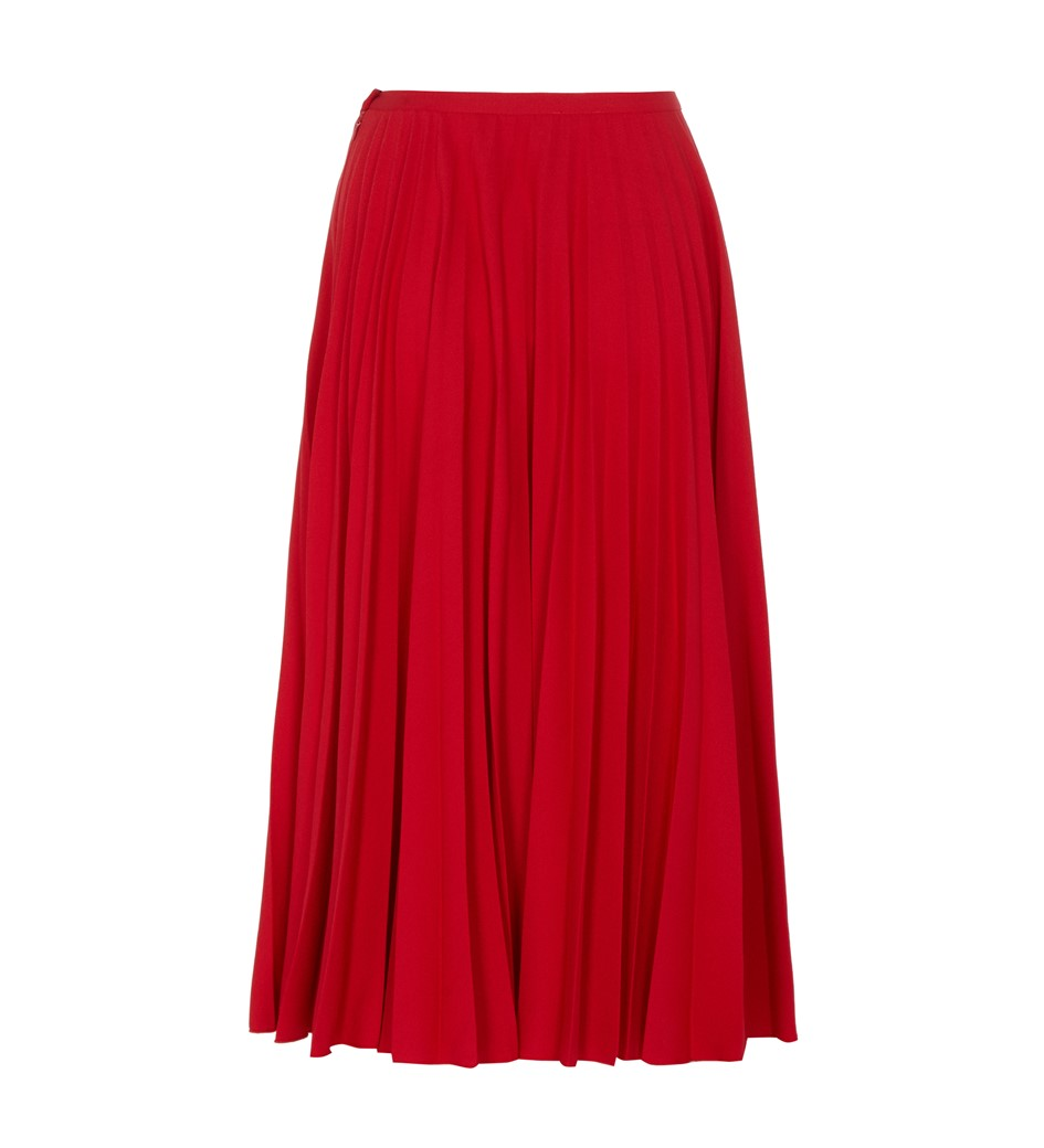Lottie Red Midi Skirt