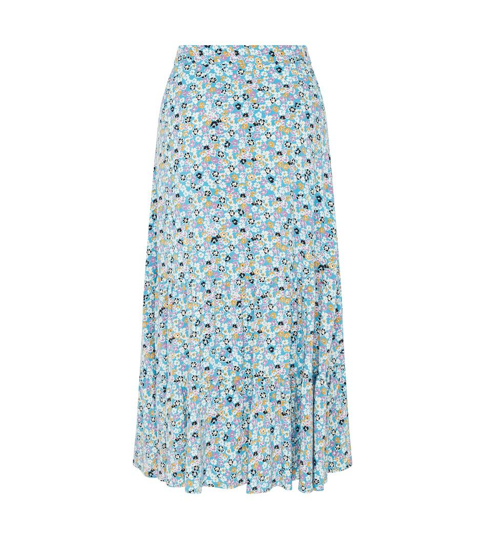Makayla Blue Ditsy Skirt